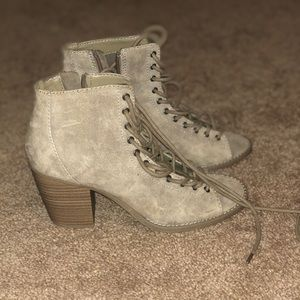 Mossimo Supply Co. Shoes - BRAND NEW Tan, Lace-Up Block Heels